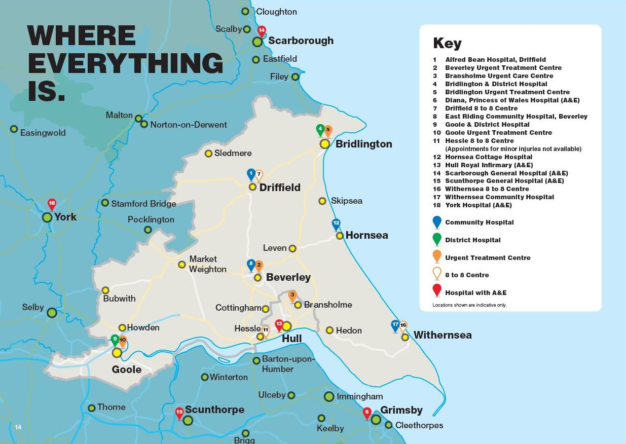 Map of local health care services