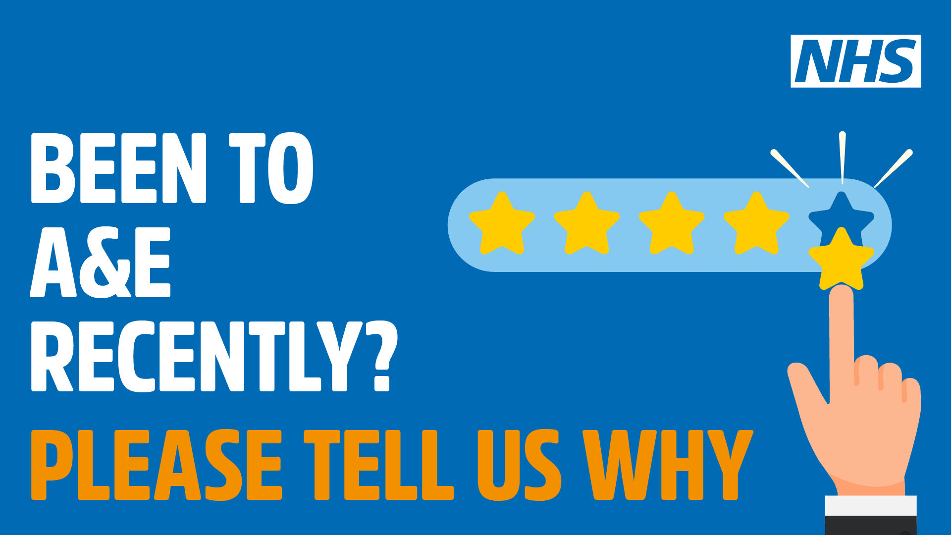 Been to A&E recently? Please tell us why