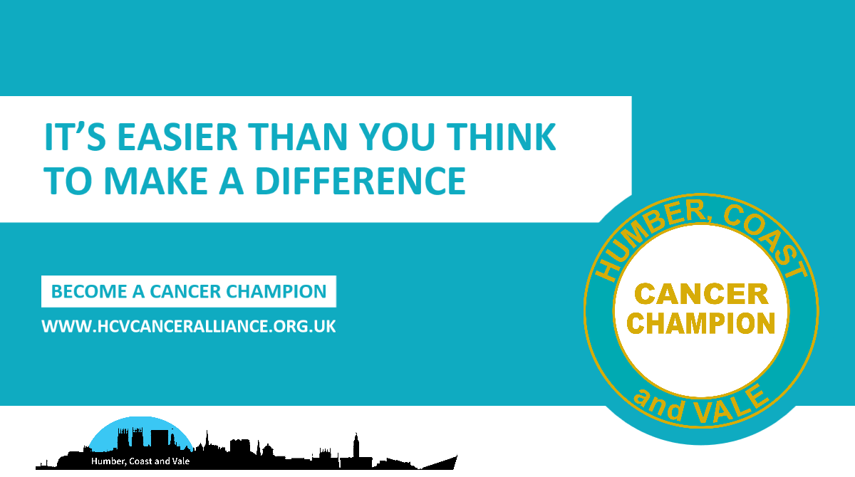 It's easier than you think to make a difference. Become a cancer champion.