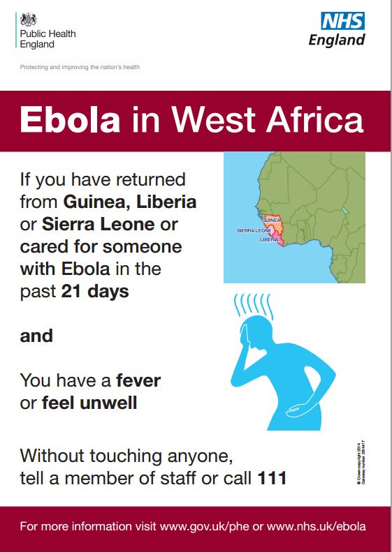 Ebola in West Africa poster