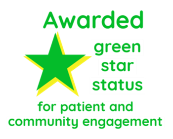 Awarded Green Star Status for patient and community engagement