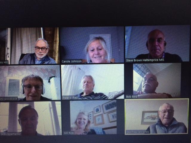 Screenshot of a video call