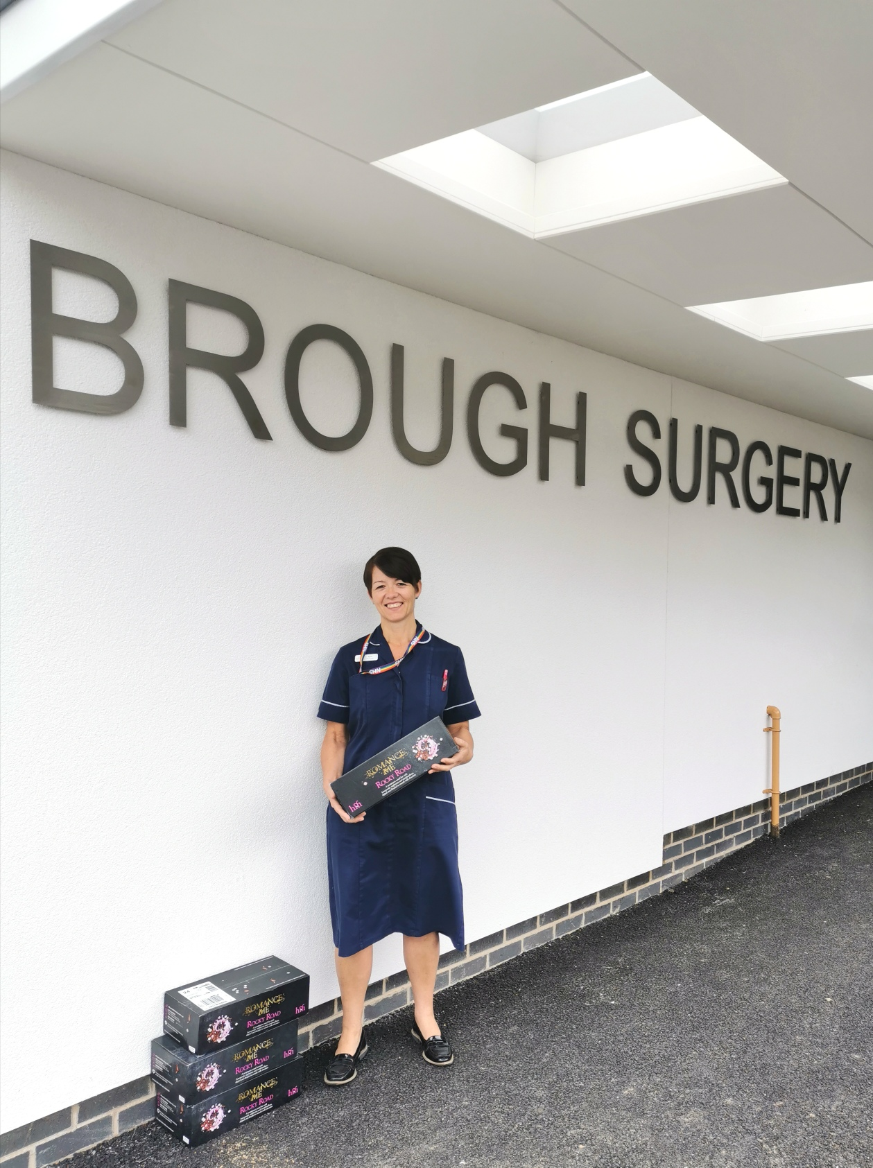 Person outside Brough Surgery