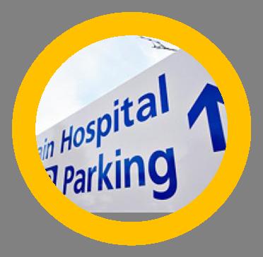 Hospital parking sign