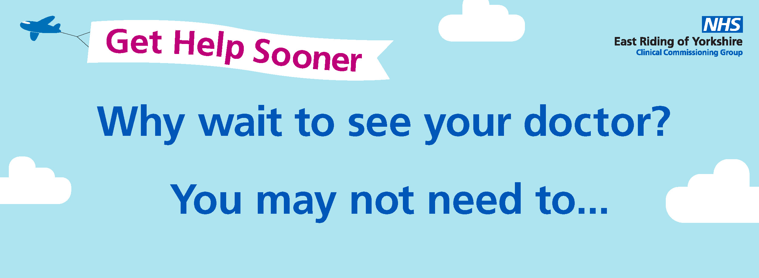 Get help sooner. Why wait to see your doctor? You may not need to...